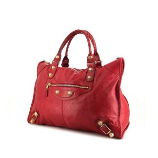 Perfect Balenciaga Replica Classic City 24 hours bag in red leather cac83b4dc78d6