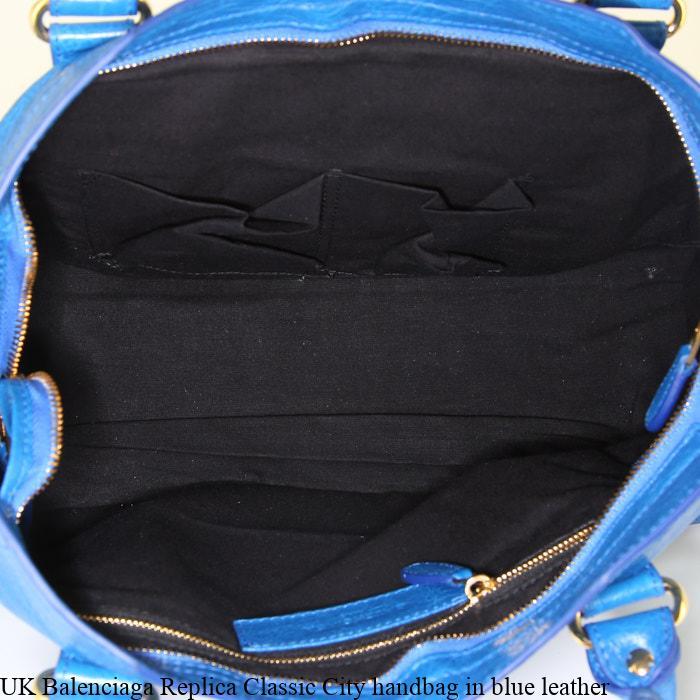 64d74ddf936 UK Balenciaga Replica Classic City handbag in blue leather – Replica  Designer Handbags, Fake Designer Bags Store
