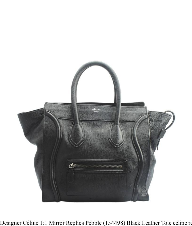 best selection of low price beautiful design Designer Céline 1:1 Mirror Replica Pebble (154498) Black Leather Tote  celine replica bucket bag