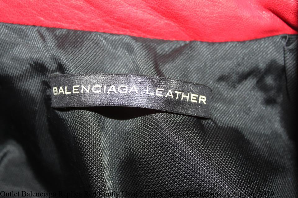 f2c63614f Outlet Balenciaga Replica Red Gently Used Leather Jacket balenciaga replica  bag 2019