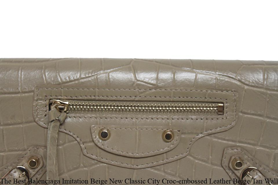 The Best Balenciaga Imitation Beige New Classic City Croc-embossed Leather  Beige Tan Wallet balenciaga replica sneaker 77291ed805822