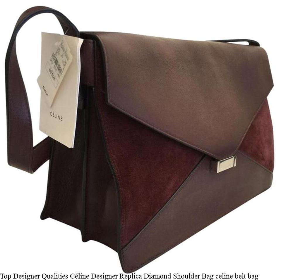 Top Designer Qualities Céline Designer Replica Diamond Shoulder Bag celine  belt bag – Replica Designer Handbags