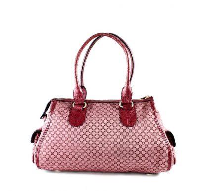 b4e279399830 US Céline 7 Star Replica Pocket Macadam Multi-pocket Shoulder Burgandy  Canvas and Leather Tote replica designer handbags uk